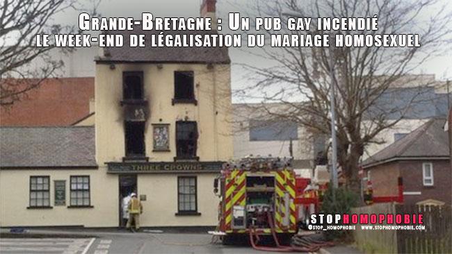 Grande-Bretagne : Un pub gay incendié le week-end de légalisation du mariage homosexuel