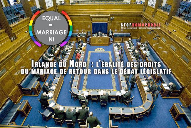Irlande du Nord  : l'égalité des droits du mariage de retour dans le débat législatif