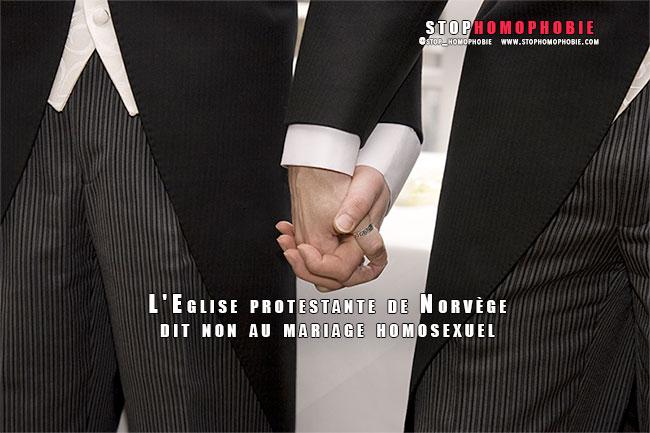 L'Eglise protestante de Norvège dit non au mariage homosexuel