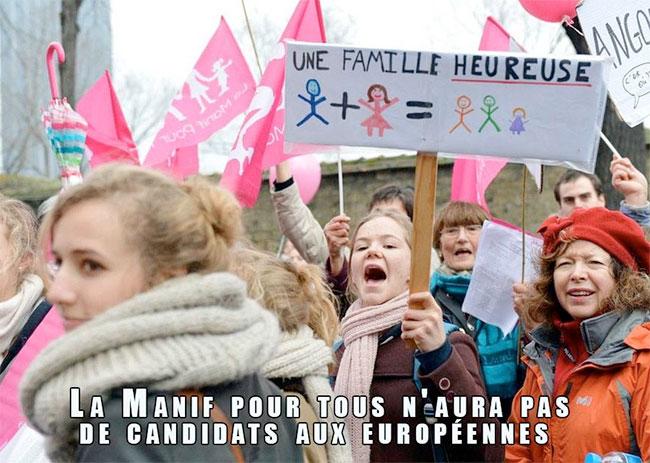 """La Manif pour tous renonce aux européennes et se contente d'une nouvelle charte : """"On n'a plus qu'à appuyer sur le bouton"""""""