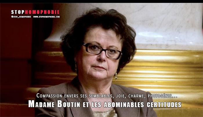 Doit-on encore se préoccuper des abominables certitudes de Christine Boutin ?