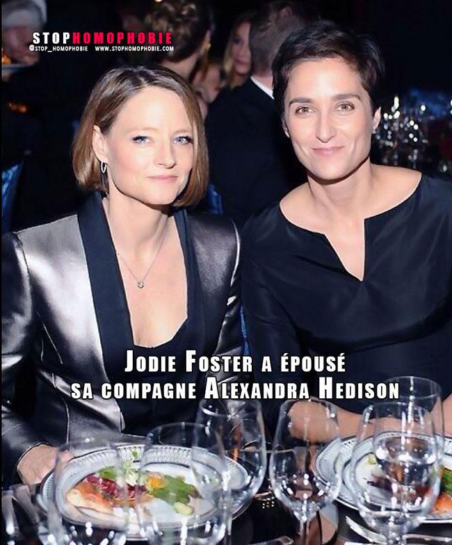 People : Jodie Foster et Alexandra Hedison se sont mariées <3
