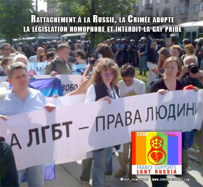 Faisant écho à la propagande du Kremlin, la #Crimée adopte la législation #homophobe et interdit toutes manifestions de fierté