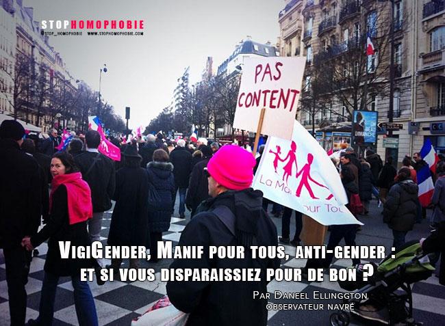 VigiGender, Manif pour tous, anti-gender : et si vous disparaissiez pour de bon ?