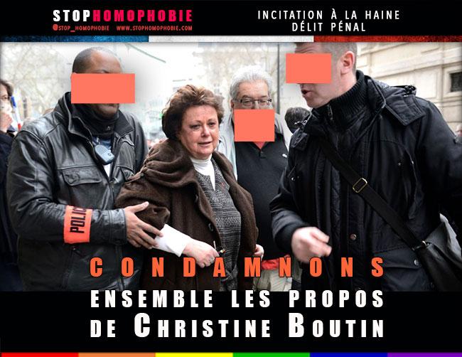 Justice : Mobilisation contre Christine Boutin pour injure et incitation à la haine...
