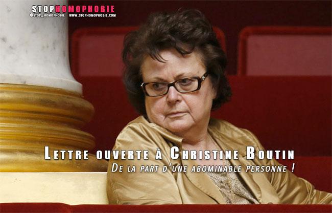 """Message personnel : Lettre ouverte à Christine Boutin… De la part d'une """"abominable"""" personne !"""