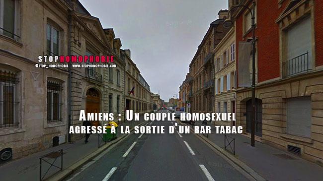 Amiens : Agression d'un couple homosexuel à la sortie d'un bar tabac