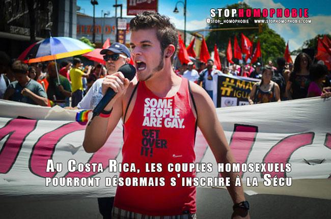 Au Costa Rica, les couples homosexuels pourront désormais s'inscrire à la Sécu