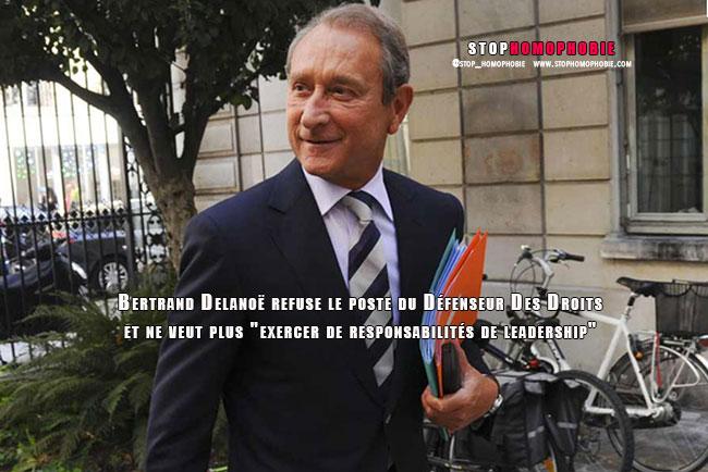 """Bertrand Delanoë refuse le poste du Défenseur Des Droits et ne veut plus """"exercer de responsabilités de leadership"""""""