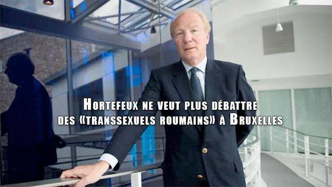 Brice Hortefeux ne veut plus débattre des «transsexuels roumains» à Bruxelles