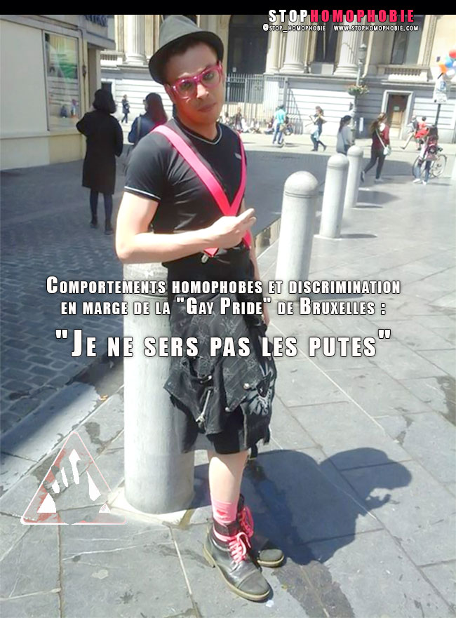 """Comportements homophobes et discrimination en marge de la """"Gay Pride"""" de Bruxelles : """"Je ne sers pas les putes"""""""