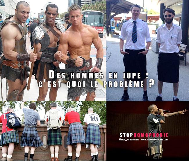 Des hommes en jupe : c'est quoi le problème ?