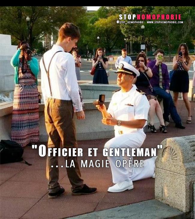 """Washington. """"Officier et gentleman"""" : une demande en mariage """"en bonne et due forme"""" et la magie opère :)"""