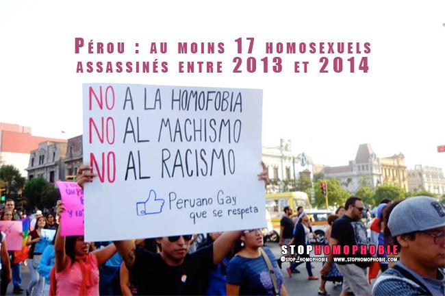 LIMA, Pérou : Au moins 17 homosexuels assassinés entre 2013 et 2014 selon Red Peruana TLGB