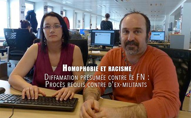 Toulouse : Renvoi devant le tribunal d'un couple d'ex-militants du #FN qui ont dénoncé racisme et homophobie au sein du parti