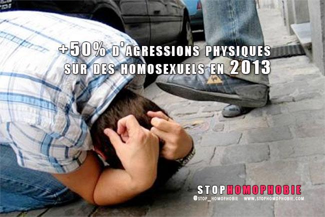 +50% d'agressions physiques sur des homosexuels en 2013