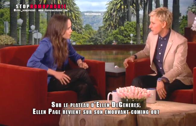 Invitée sur le plateau d'Ellen DeGeneres, Ellen Page revient sur son émouvant coming out