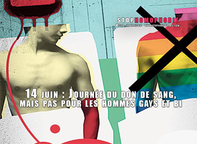 14 juin : Journée du don de sang, mais pas pour les hommes gays et bi