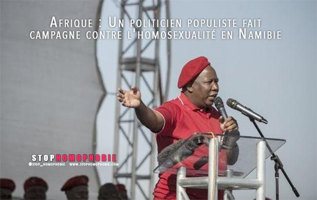 Afrique : Un politicien populiste fait campagne contre l'homosexualité en Namibie