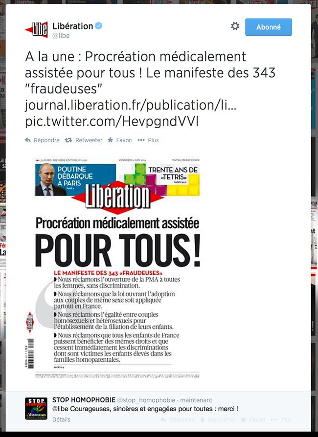 """Homoparentalité : Manifeste des """"343 fraudeuses"""" pour la PMA"""