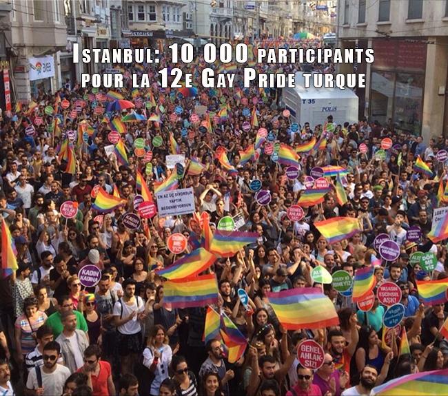 Istanbul: 10 000 participants pour la 12e Gay Pride turque