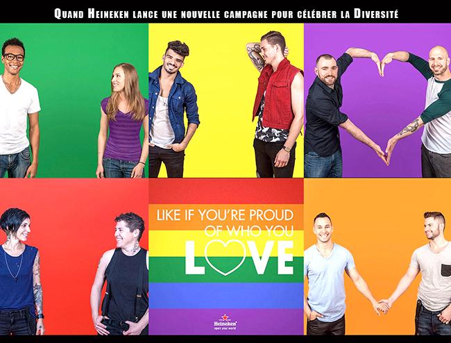 #LikeForLove : Pour sa nouvelle campagne, Heineken choisit de mettre en vedette la diversité et des couples #LGBT.