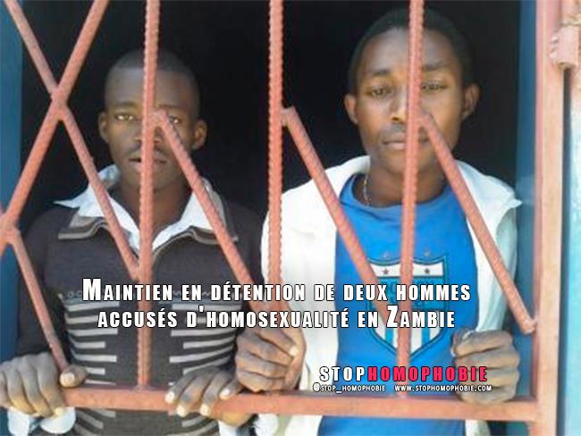 Maintien en détention de deux hommes accusés d'homosexualité en Zambie