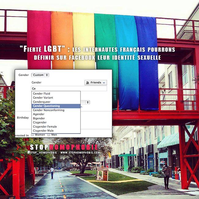 """Pour célébrer le mois de la """"Fierté #LGBT"""", les internautes français pourrons définir sur @facebook leur identité sexuelle"""