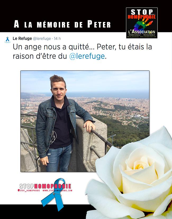 R.I.P. Avec @lerefuge à la mémoire de Peter