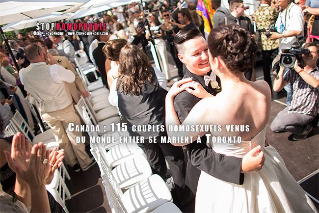Toronto : 115 couples homosexuels du monde entier pour une cérémonie de mariage collective