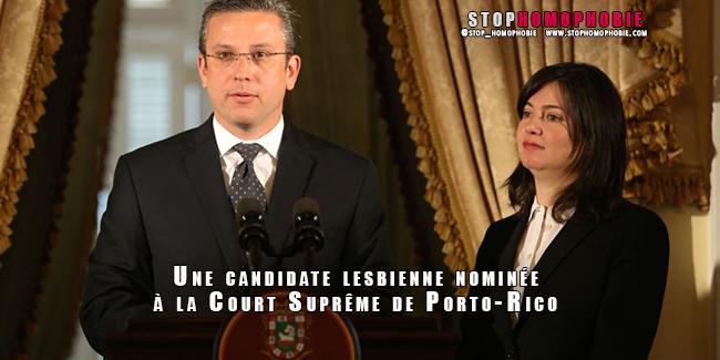 Historique : Une candidate ouvertement lesbienne nominée à la Court Suprême de Porto-Rico