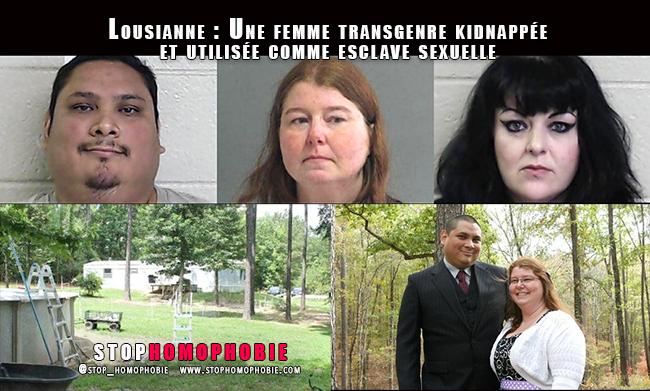 Lousianne : Une transgenre kidnappée et utilisée comme esclave sexuelle et femme de ménage