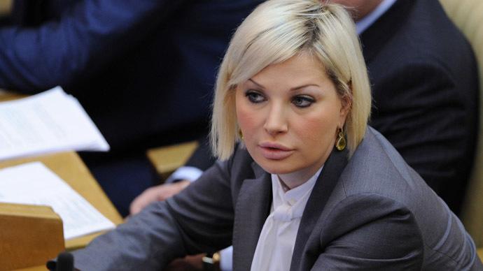 Maria Maksakova, députée russe se prononce contre la loi « anti-gay »