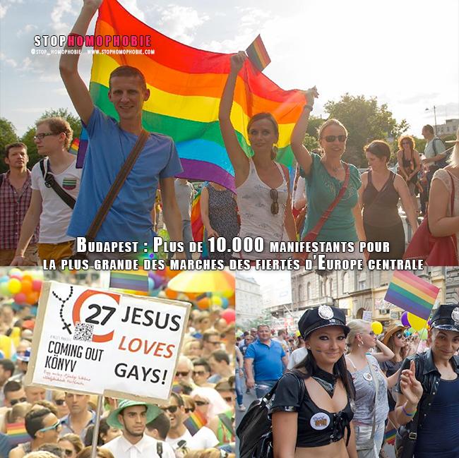 """Vidéo. Plusieurs milliers de personnes pour une """"Gay Pride"""" mobilisatrice et festive à #Budapest"""