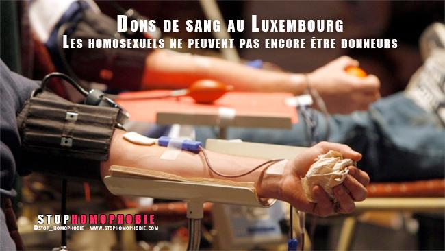 Don du sang : Les homosexuels luxembourgeois également discriminés