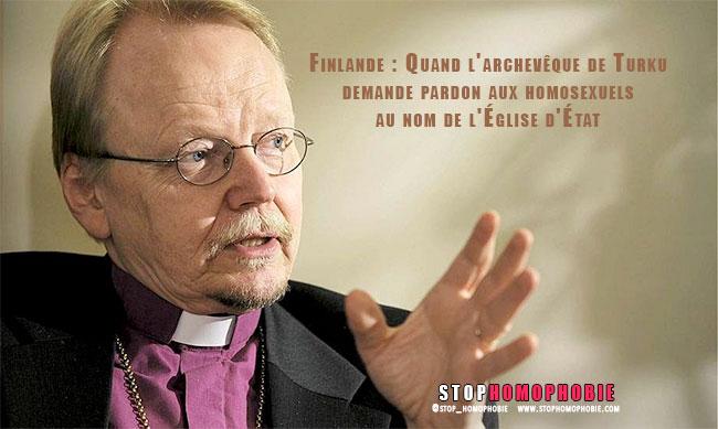 Finlande : Quand l'archevêque de Turku demande pardon aux homosexuels au nom de l'Église d'État