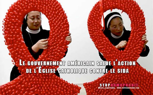 Le gouvernement américain salue l'action de l'Église catholique contre le sida