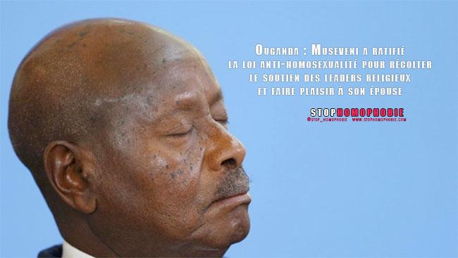 Ouganda : Museveni a ratifié la loi anti-homosexualité pour récolter le soutien des leaders religieux et faire plaisir à son épouse