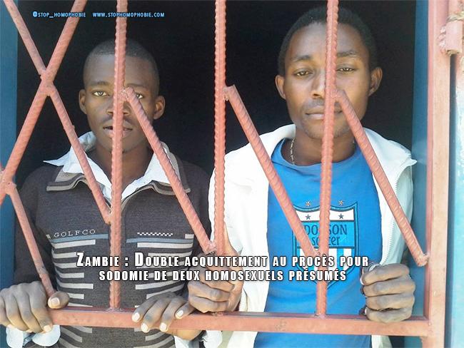 Zambie : Double acquittement au procès pour sodomie de deux homosexuels présumés