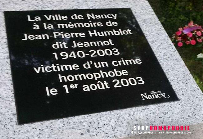 Mémoire : Cérémonie organisée par la mairie de #Nancy en hommage à Jean-Pierre Humblot, victime d'homophobie