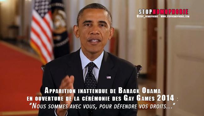VIDÉO : Apparition inattendue de Barack Obama en ouverture de la cérémonie des #GayGames2014