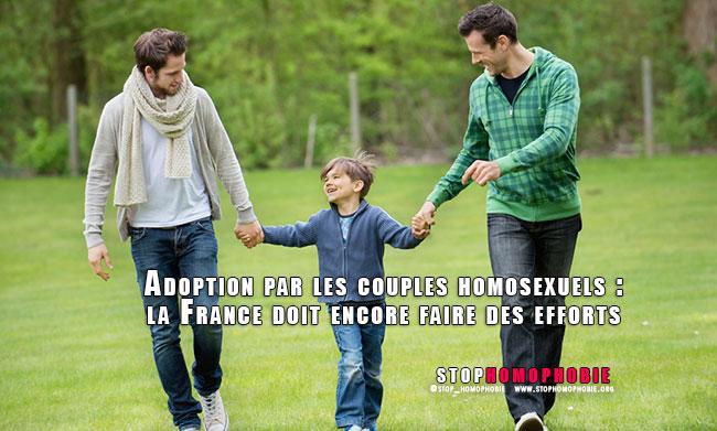 Adoption par les couples homosexuels : la France doit encore faire des efforts