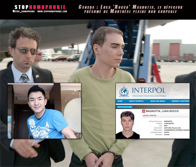 Canada : Luka 'Rocco' Magnotta, le dépeceur présumé de Montréal plaide non coupable