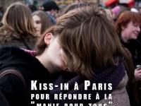 Kiss-in Paris contre l'homophobie ce 6oct : Ne laissons pas la rue à la Manif pour tous