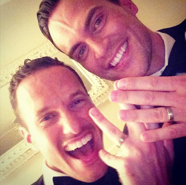 Ce week-end, l'acteur Cheyenne Jackson a épousé son compagnon, Jason Landau