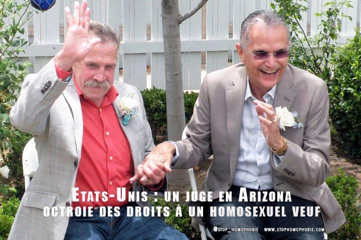 États-Unis : un juge en Arizona octroie des droits à un homosexuel veuf