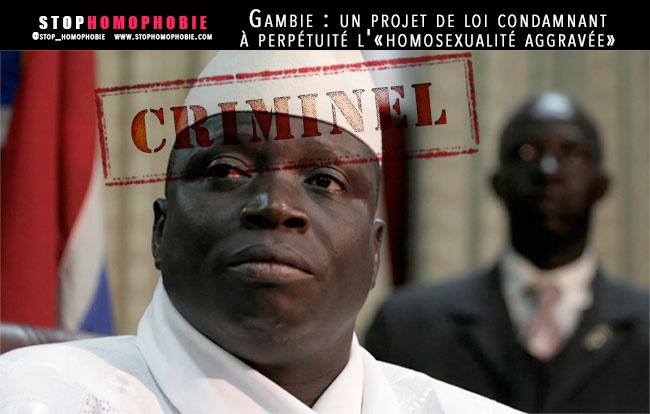 Gambie : Un projet de loi condamnant à perpétuité l'«homosexualité aggravée»