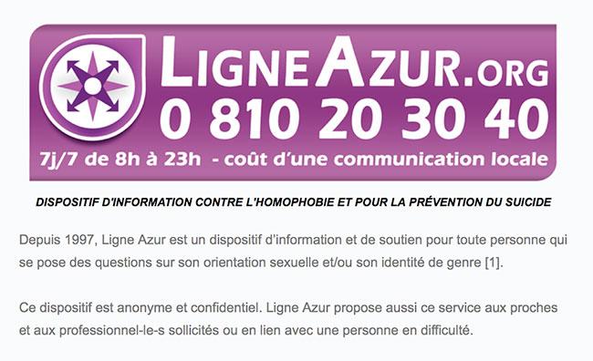 Conseil d'Etat : La Ligne Azur anti-homophobie n'aurait pas dû entrer à l'école