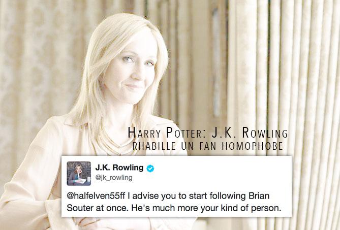 Harry Potter : Quand J.K. Rowling rhabille un fan homophobe
