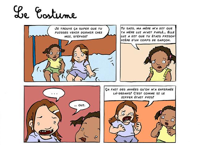 Sensibilisation ludique : Un webcomic à propos d'une fillette assignée garçon à la naissance